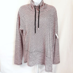 Jones New York Cowl Neck Striped Top New with tags